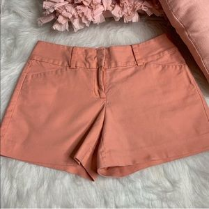 • Ann Taylor • Peach Chino Signature Shorts